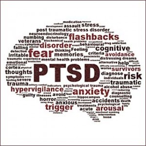 PTSD symbol conceptual design isolated on white background. Anxiety disorder symbol abstract conceptual design